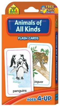 School Zone Flashcards Animals of All Kinds (04012/11KP12)