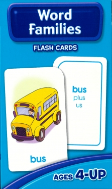 School Zone Flashcards Word Families (04015/07MPS12)