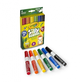 Silly Scents Washable Chisel Tip Markers 6 シリーセンツ 水でおとせる ビッグマーカー 6色