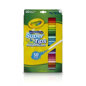 Washable Super Tips Fine Line Markers 50 水でおとせる カラーリングマーカー 50色
