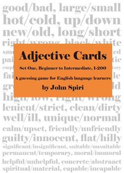 Adjective Cards 1 - (Single User)