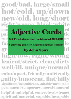 Adjective Cards 2 - (Single User)