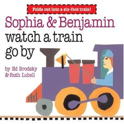 Sophia & Benjamin watch a train go by