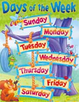 Days of the Week Learning Chart