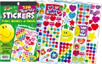 336 Sparkly Stickers: Stars, Hearts, & Smiles
