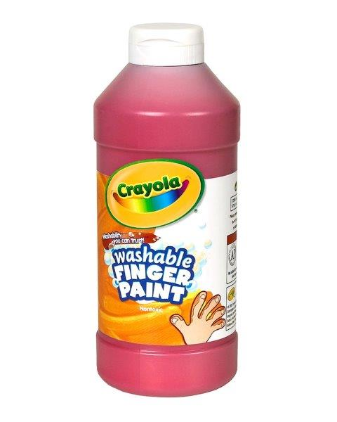 Washable Finger Paint Red 水でおとせるフィンガーペイント 単色ボトル レッド