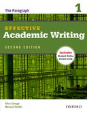 Effective Academic Writing Second Edition Level 1 Student Book with Online Practice