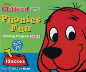 Clifford Phonics Fun Pack 4 (12 Books + CD + Japanese Guide)