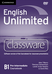 English Unlimited Pre-intermediate Classware DVD-ROM