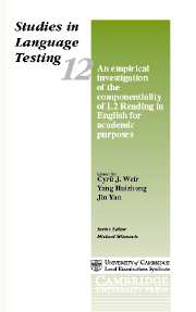 An Empirical Investigation of the Componentiality of L2 Reading in English for Academic Purposes (hardback)