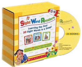 Scholastic Sight Word Readers 25 Readers, Workbook and Audio CD Set