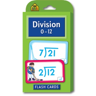 School Zone Flashcards Division 0-12