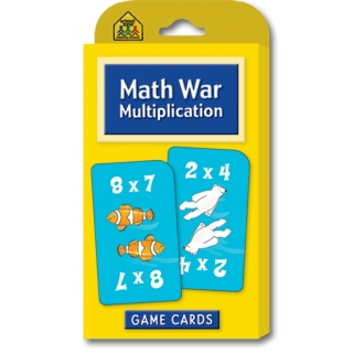 School Zone Flashcards Math War Multiplication
