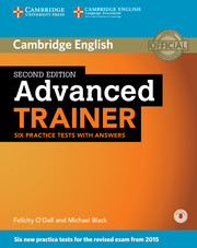 Advanced Trainer 2nd Edition Six Practice Tests with Answers with Audio