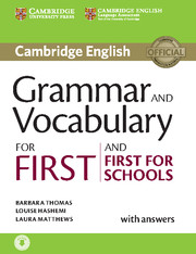 Cambridge Grammar and Vocabulary for First and First for Schools Book with Answers and Audio