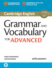 Cambridge Grammar and Vocabulary for Advanced Book with Answers and Audio