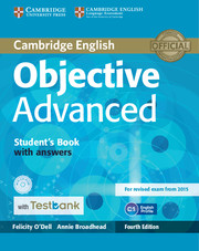 Objective Advanced 4th Edition Student\'s Book with Answers with CD-ROM with Testbank