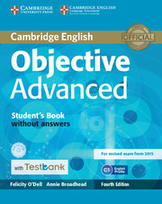 Objective Advanced 4th Edition Student\'s Book without Answers with CD-ROM with Testbank