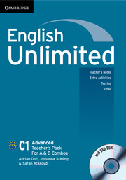 English Unlimited Advanced A and B Teacher\'s Pack (Teacher\'s Book with DVD-ROM)