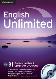 English Unlimited Pre-intermediate A Combo with DVD-ROMs (2)