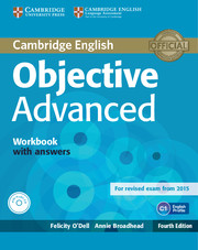 Objective Advanced 4th Edition Workbook with Answers with Audio CD