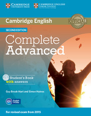 Complete Advanced 2nd Edition Student's Book with Answers with CD-ROM