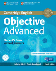Objective Advanced 4th Edition Student\'s Book without Answers with CD-ROM
