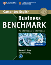 Business Benchmark 2nd Edition Pre-intermediate to Intermediate BULATS Student's Book