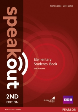 Speakout 2nd Edition Elementary Course Book with DVD-ROM