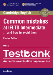 Common Mistakes at IELTS Intermediate Paperback with IELTS Academic Testbank