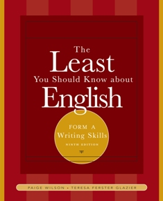 The Least You Should Know About English