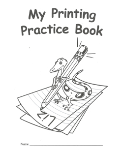 My Printing Practice Book