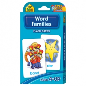 School Zone Flashcards Word Families (04015/11KP12)