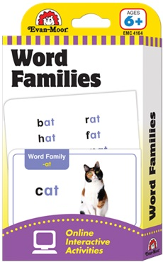 Evan-Moor Flashcards - Word Families