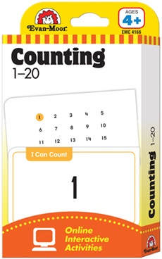 Evan-Moor Flashcards - Counting 1-20