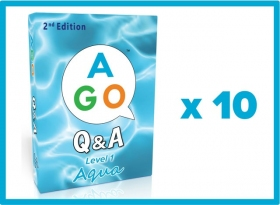 AGO Q&A Aqua (2nd Edition) Set of 10 [AGO Card Game]