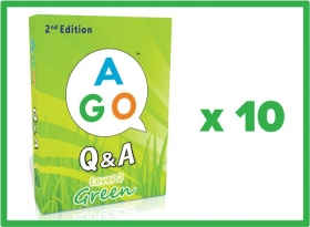 AGO Q&A Green (2nd Edition) Set of 10 [AGO Card Game]