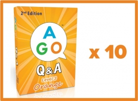 AGO Q&A Orange (2nd Edition) Set of 10 [AGO Card Game]