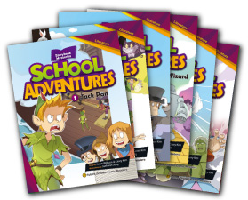 School Adventures Graded Comic Readers Level 2 set (6 Books with CD)