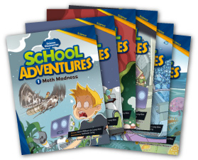 School Adventures Graded Comic Readers Level 3 set (6 Books with CD)