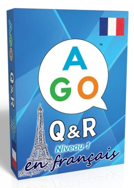 AGO Q&R en Français Aqua (Niveau 1) - AGO Card Game Version for Learners of French [AGO Card Game]