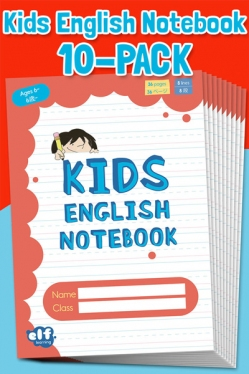 Kids English Notebooks by ELF Learning Level 1 - Red 10-Book Pack