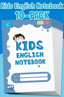 Kids English Notebooks by ELF Learning Level 2 - Blue 10-Book Pack