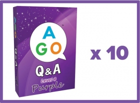 AGO Q&A Purple (Level 4) Set of 10 [AGO Card Game]