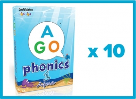 AGO Phonics 2nd Edition Aqua (Level 1) Set of 10 [AGO Card Game]