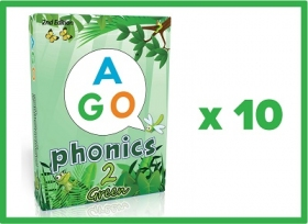 AGO Phonics 2nd Edition Green (Level 2) Set of 10 [AGO Card Game]