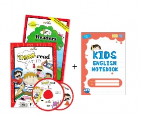 Think Read Write 1 Student Book (with CD), TRW 1 Readers - 2017 Edition and Home DVD Set ≪3点セット≫ + Free Red Notebook