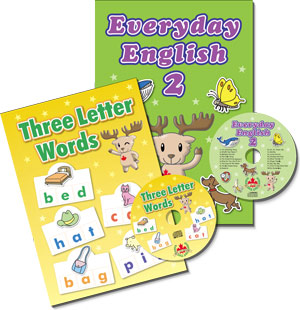 Three Letter Words & Everyday English 2 Workbook Combo (2 books)