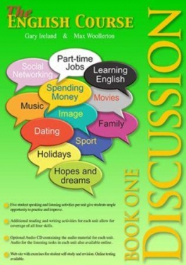 The English Course – Discussion Student Book 1 (Book Only)