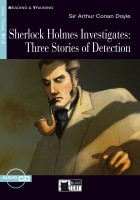 Black Cat Reading and Training Step 3 Sherlock Holmes Investigates Book with Audio CD